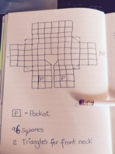 Granny jacket square layout diagram